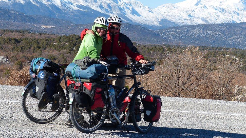 Delphine Schüpbach et Sébastien Kramer en Turquie, près de Beysheir, en 2013.