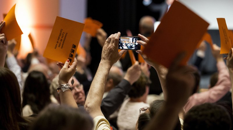 Les 274 délégués démocrates-chrétiens ont soutenu le texte d'initiative à l'unanimité.