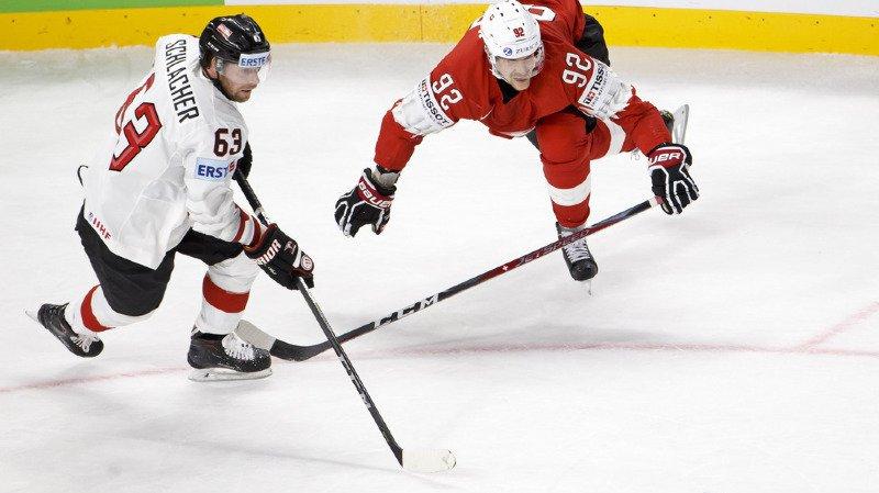 Hockey sur glace - Mondiaux 2018: la Suisse s'impose difficilement contre l'Autriche