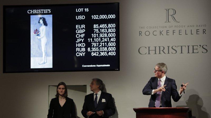 """Enchères: la """"fillette"""" de Picasso adjugée 115 millions de dollars"""