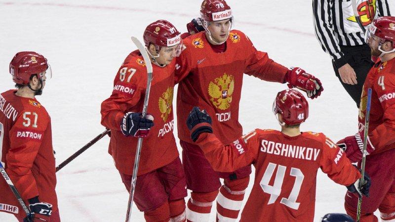 Hockey - Mondiaux 2018: la Russie donne un coup de pouce à la Suisse en battant la Slovaquie
