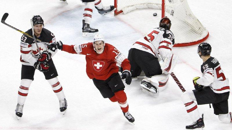 Hockey - Mondiaux 2018: la Suisse s'impose 3-2 face au Canada et rejoint la Suède en finale!