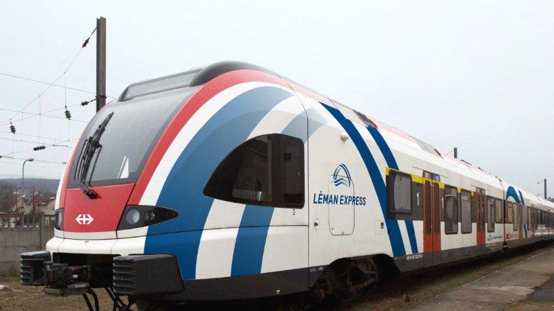 Une rame du Léman Express, qui circulera dès décembre jusqu'à Anemasse.