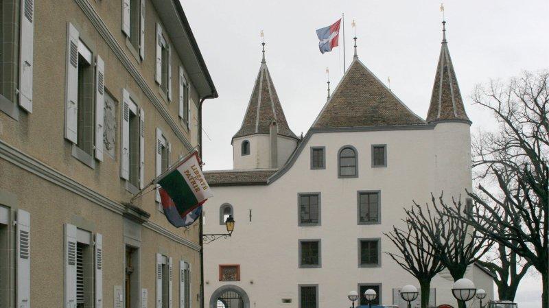 La question du jour: pourquoi Nyon ne change (presque) jamais le drapeau de son château?