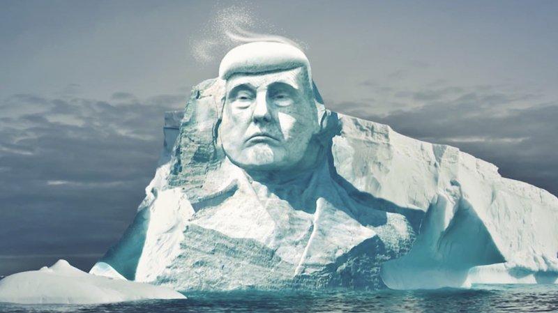 Une ONG veut sculpter le visage de Trump sur un iceberg pour le convaincre du réchauffement planétaire