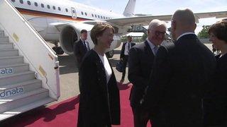 Le président allemand Frank-Walter Steinmeier commence sa visite en Suisse