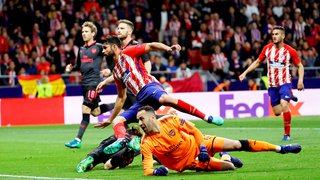 Football - Europa League: vainqueur chez lui 1-0 face à Arsenal, l'Atlético Madrid est en finale, Marseille en prolongations