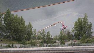 Valais: un hélicoptère s'abîme dans un plan d'eau