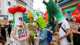 Morges: manifestation contre Monsanto en images