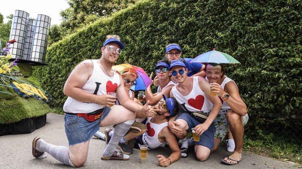 La jeunesse de Chéserex s'est particulièrement amusée lors du défilé, même si le résultat n'a pas été à la hauteur de leurs attentes.