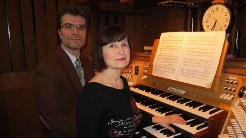 Olga Grigorieva et Andrea Boniforti, organistes.