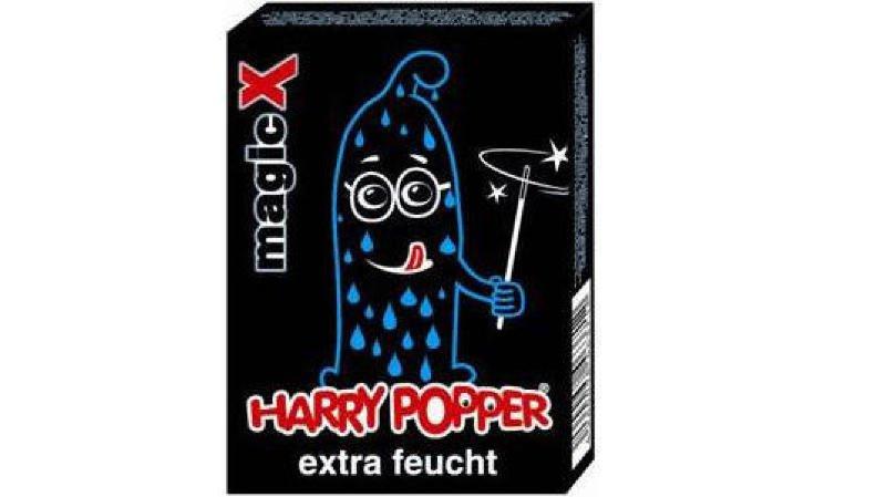"""Le leader helvétique du X a fait inscrire il y a plus d'une décennie le nom """"Harry Popper"""" au registre suisse des marques pour des préservatifs."""