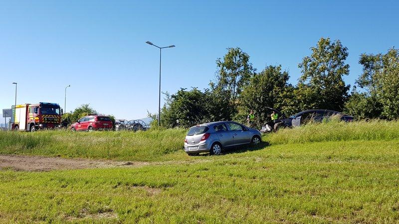 Nyon: accident impliquant deux voitures sur la route de Saint-Cergue