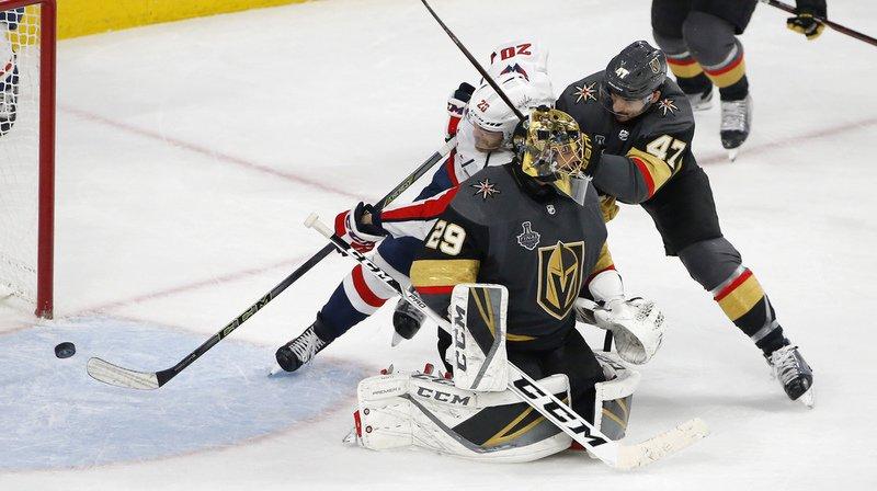 Luca Sbisa et ses coéquipiers des Golden Knights se sont inclinés en finale de la Coupe Stanley face aux Capitals.