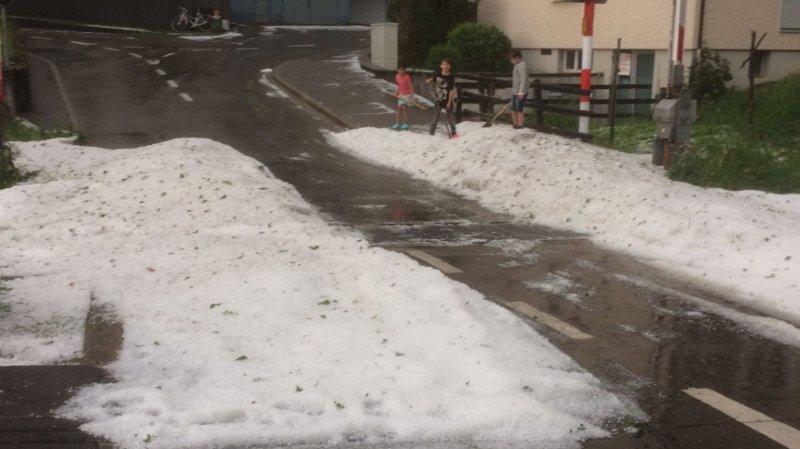 Violents orages en Suisse alémanique: inondations et gros grêlons