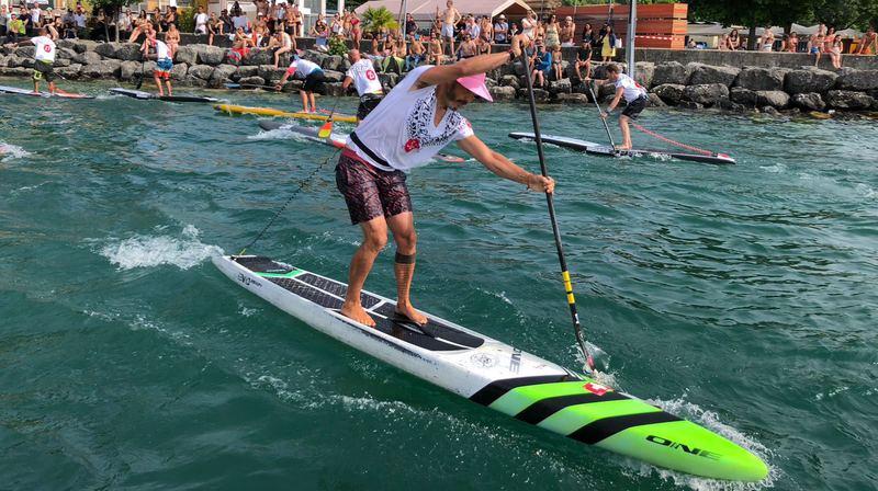 Steeve Fleury sacré champion suisse de stand up paddle pour la dixième fois