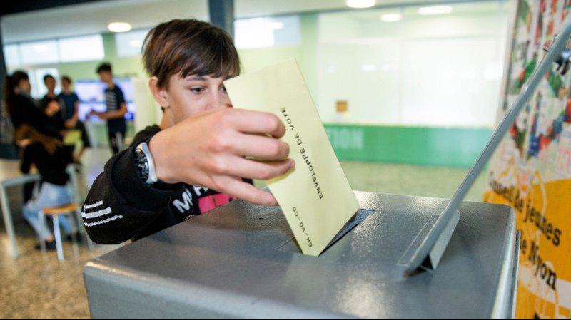 Les élèves de Nyon-Marens ont simulé un vote le 29 mai dernier.