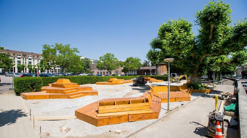 Nyon: l'aménagement temporaire du square Perdtemps plaît à la population