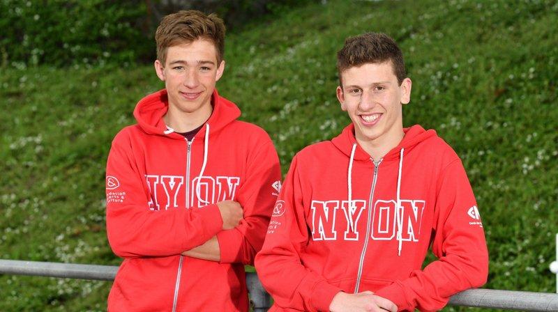 Luca Luberti et Loïc Triponez, les deux pépites du triple effort nyonnais