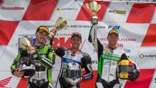 Premiers podiums en championnat de France superbike pour Sébastien Suchet