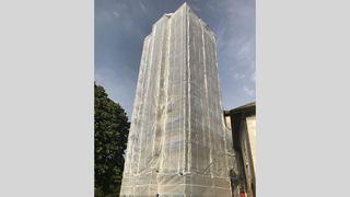 La question du jour: pourquoi la tour du château d'Aubonne est-elle toujours emballée?