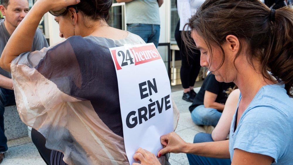 Des journalistes romands de Tamedia ont entamé, hier après-midi, une grève prévue jusqu'à ce soir, à minuit.