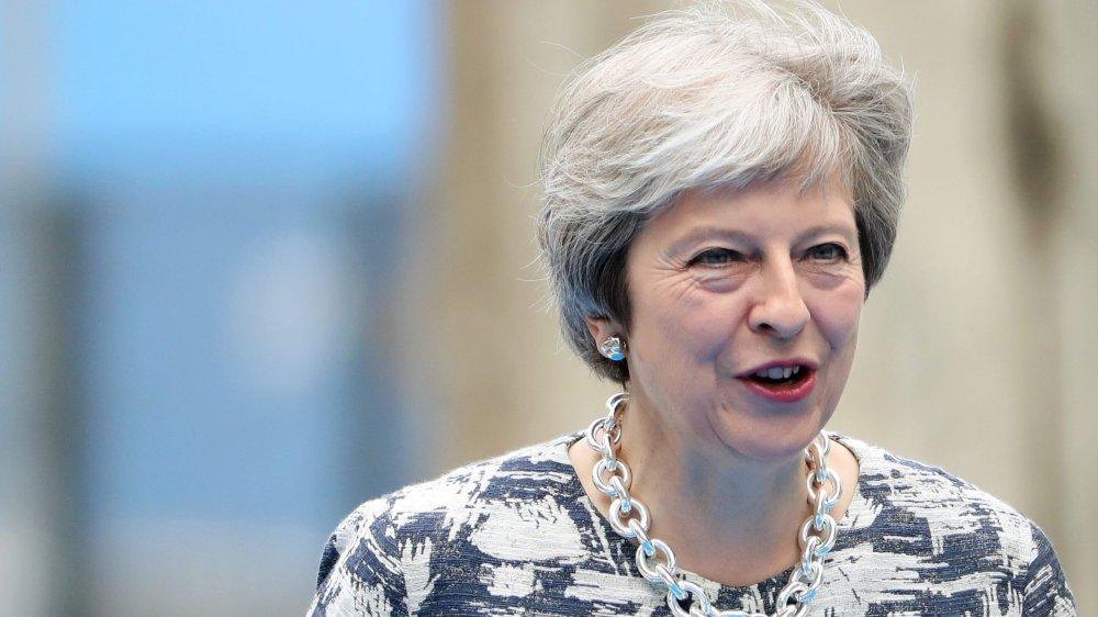 Theresa May a présenté sa vision du Brexit, hier.