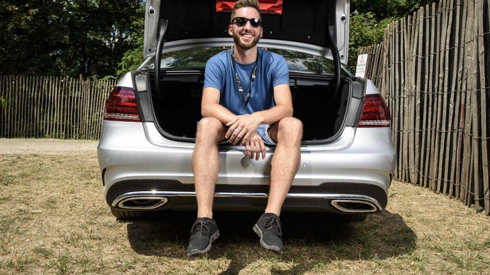 Nicolas Delacrétaz, 31 ans, est l'un des chauffeurs d'artistes à Paléo.