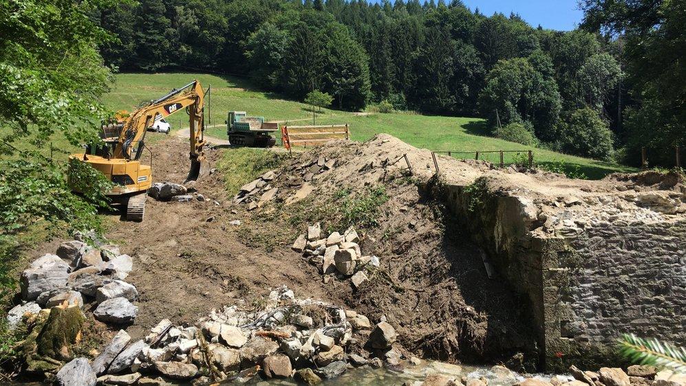 Le pont historique sur le Toleure a été démoli.