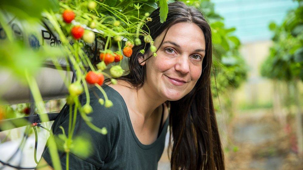 Loraine Mange a choisi de reprendre l'exploitation familiale il y a cinq ans.
