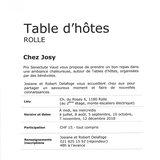 """Table d'hôtes """"Chez Josy"""""""
