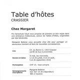 """Table d'hôtes """"Chez Margaret"""""""
