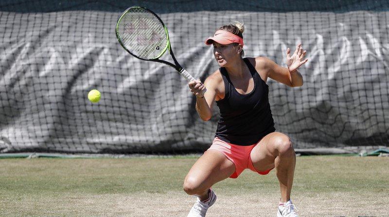 Belinda Bencic s'est imposée au 1er tour de Wimbledon contre la Française Caroline Garcia.