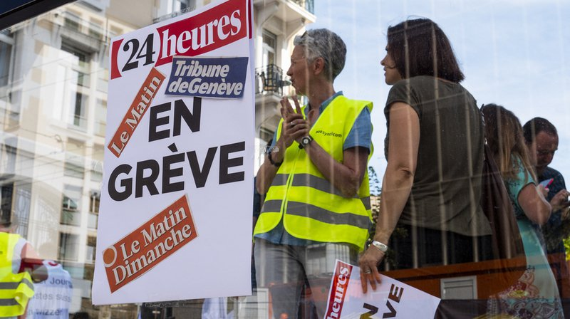 Un appel de soutien aux employés de Tamedia, qui sont en grève, a été lancé.