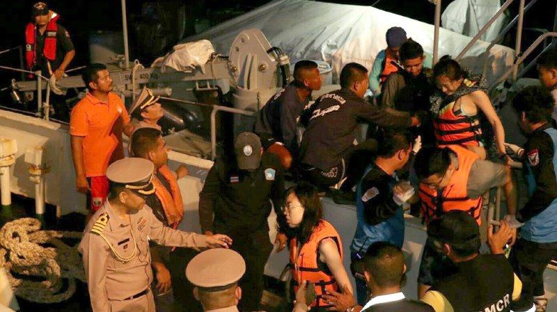 Thaïlande: au moins 37 morts et 18 disparus dans le naufrage d'un bateau touristique