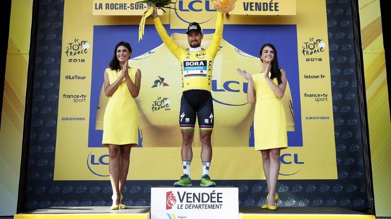 Le Slovaque de 28 ans s'est imposé lors de la deuxième étape du Tour de France.
