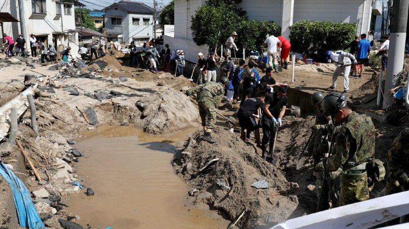 Intempéries au Japon: le bilan s'alourdit à 199 morts
