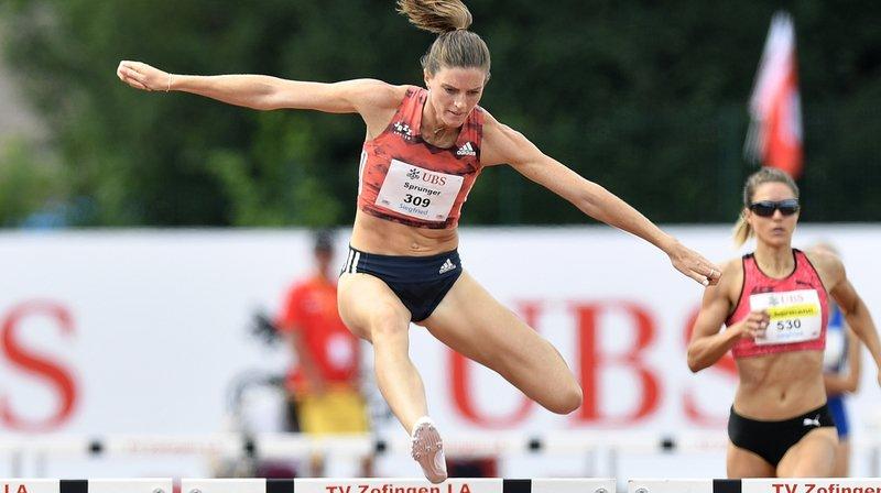 Lea Sprunger avait décroché le titre national sur 400 m haies, son premier dans cette discipline, il y a plus d'une semaine.