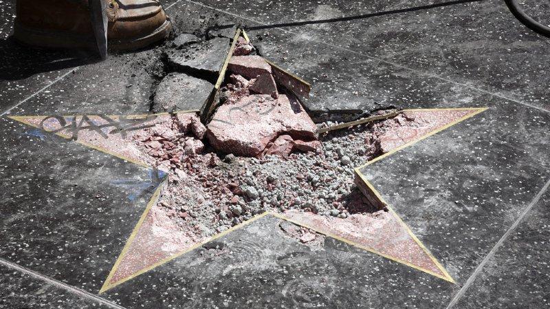 Etats-Unis: l'étoile de Donald Trump à Hollywood a été vandalisée