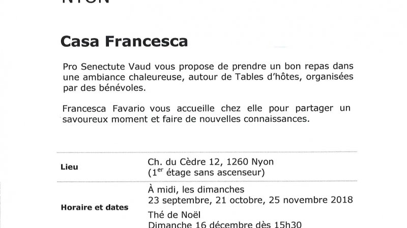 """Tables d'hôtes """"Casa Francesca"""""""