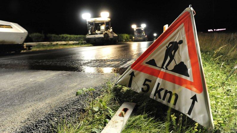Des travaux sur l'autoroute (photo d'illustration)