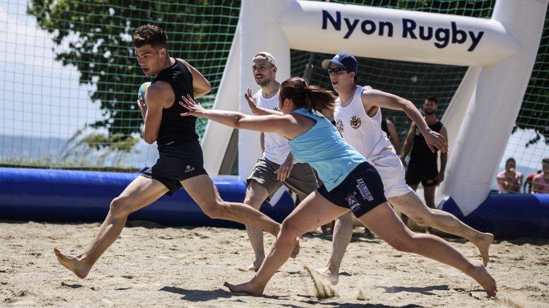 Nyon: grand succès pour le beach polo et le beach rugby à la Jetée