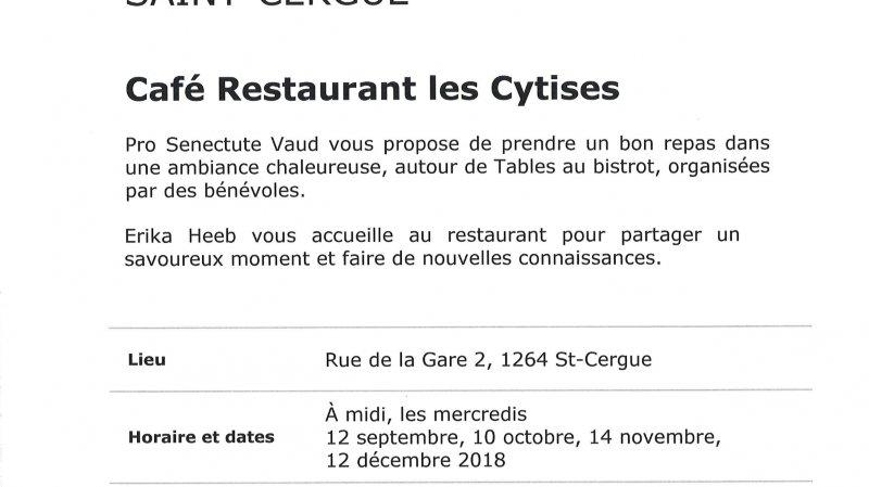 Table au bistrot - Café Restaurant les Cytises