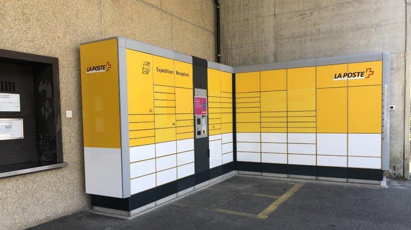 """""""My Post 24"""" a été installé au niveau du parking de la Poste de Morges."""