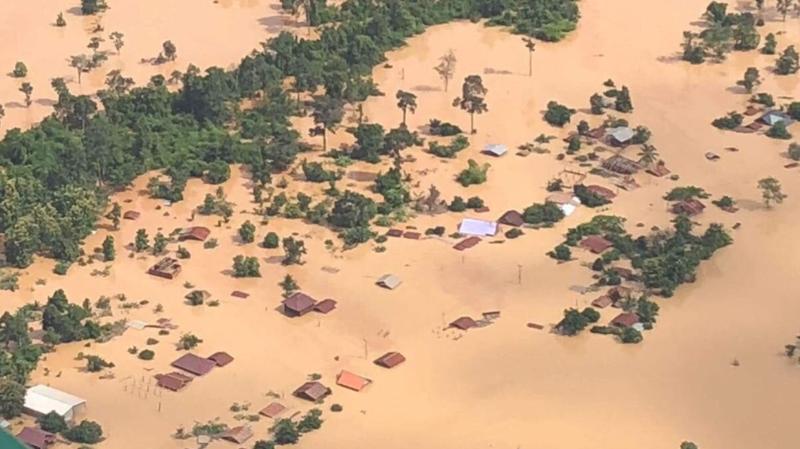 Laos: plusieurs morts et des centaines de disparus après l'effondrement d'un barrage