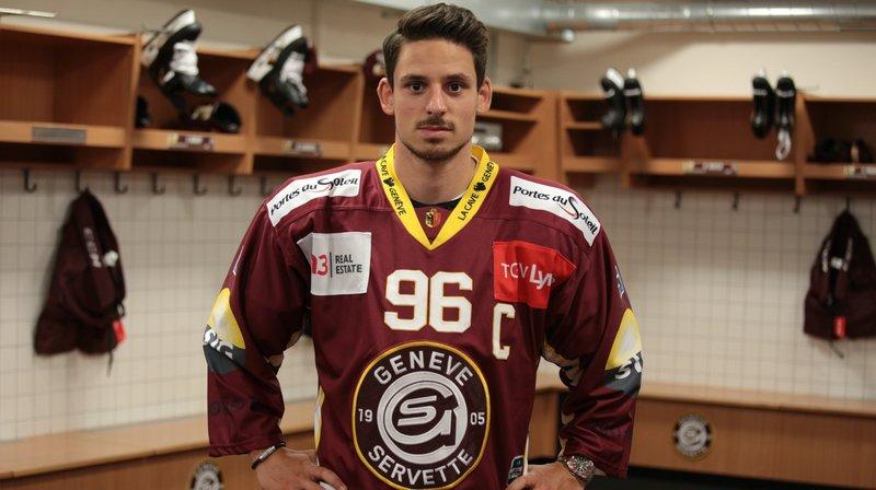 Noah Rod a été nommé capitaine du Genève-Servette HC.