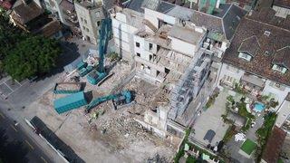 Nyon: la façade de l'Hôtel Beau Rivage a été démolie