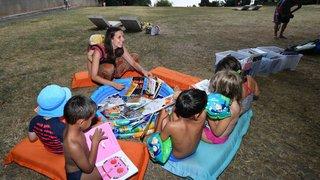 A Gland, la bibliothèque prend ses quartiers d'été à la plage