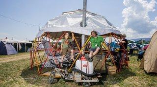 Paléo: l'arrivée des campeurs en images