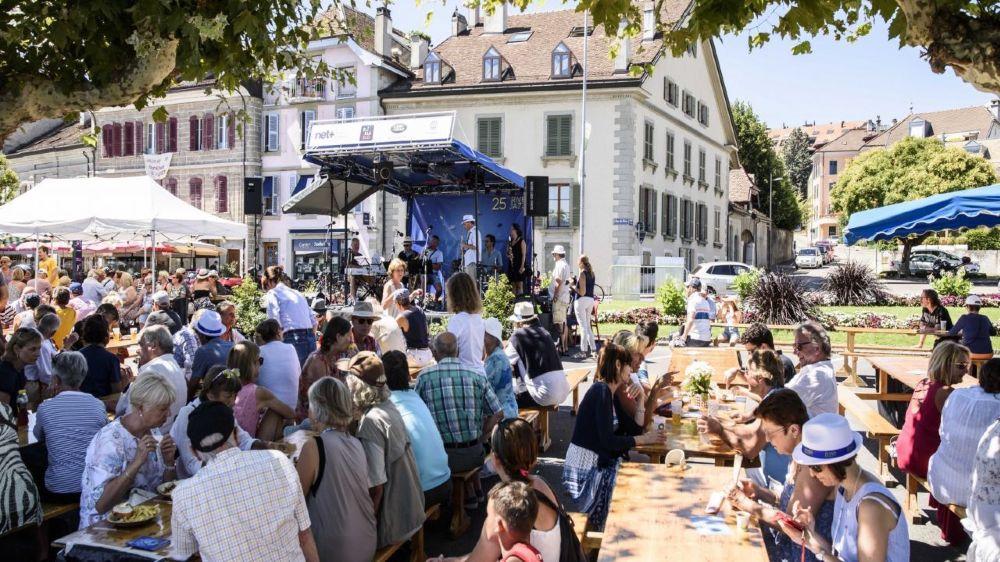 A la place du Molard, Rive Jazzy a accueilli de nombreux spectateurs.